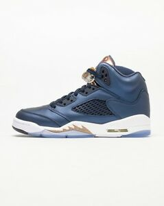 a5faa9e7b0ca Air Jordan 5 V Retro BG Obsidian Metallic Red Bronze White 440888 ...