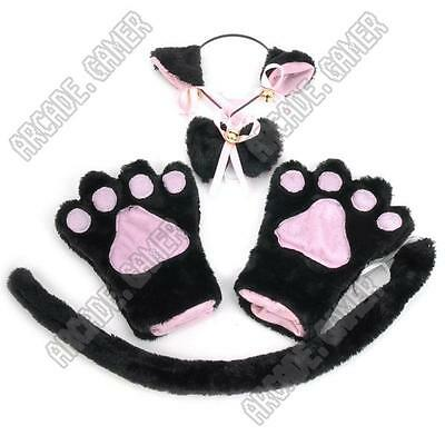 4-in-1 Catgirl Ears Paw Gloves Tail Cosplay Costume Tokyo Mew Power Anime Kawaii