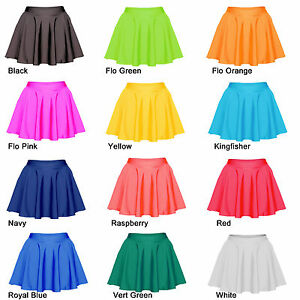 SKATER-SKIRT-Ladies-Girls-Lycra-Circular-Skating-Dance-Tap-Ballet-All-Colours