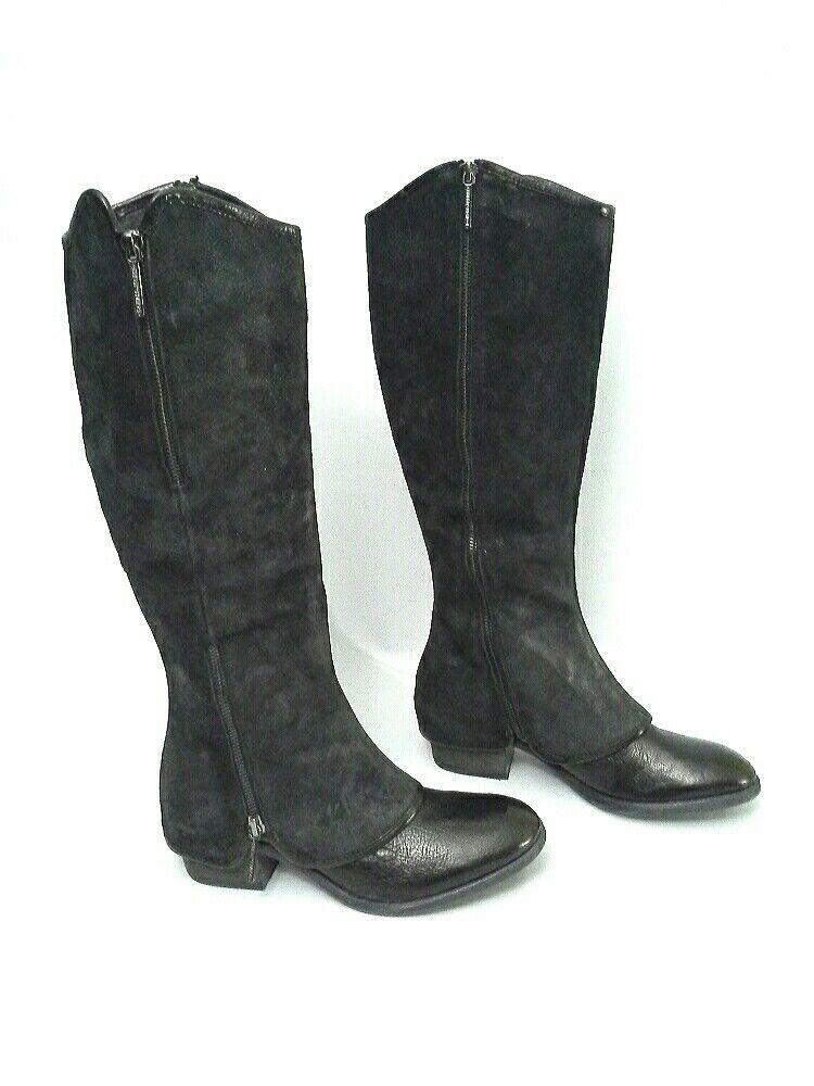 Donald J Pliner Devi 4 démarrage Suede Reverse Calf Leather noir Taille 6.5  398