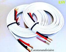 NEW QED Performance XTC X-TUBE AUDIO SPEAKER CABLES 2x 2.0m (A Pair) Terminated