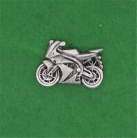 ENGLISH PEWTER - MOTORBIKE - LAPEL PIN BADGE RACING BSA HARLEY