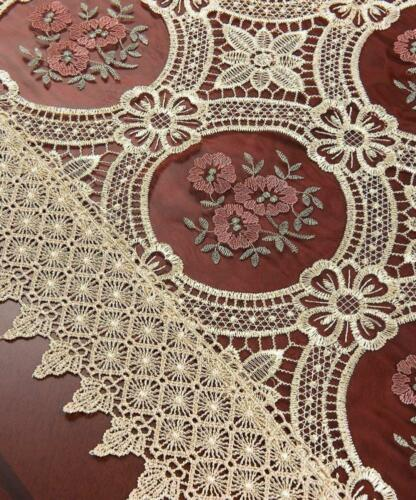 Simhomsen Vintage Beige Lace Table Runners And Doilies 16 By 36 Inch
