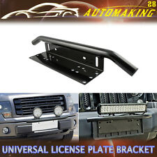 "Bull Bar Front Bumper License Plate Mount Bracket Holder Offroad Light Bar 23"""