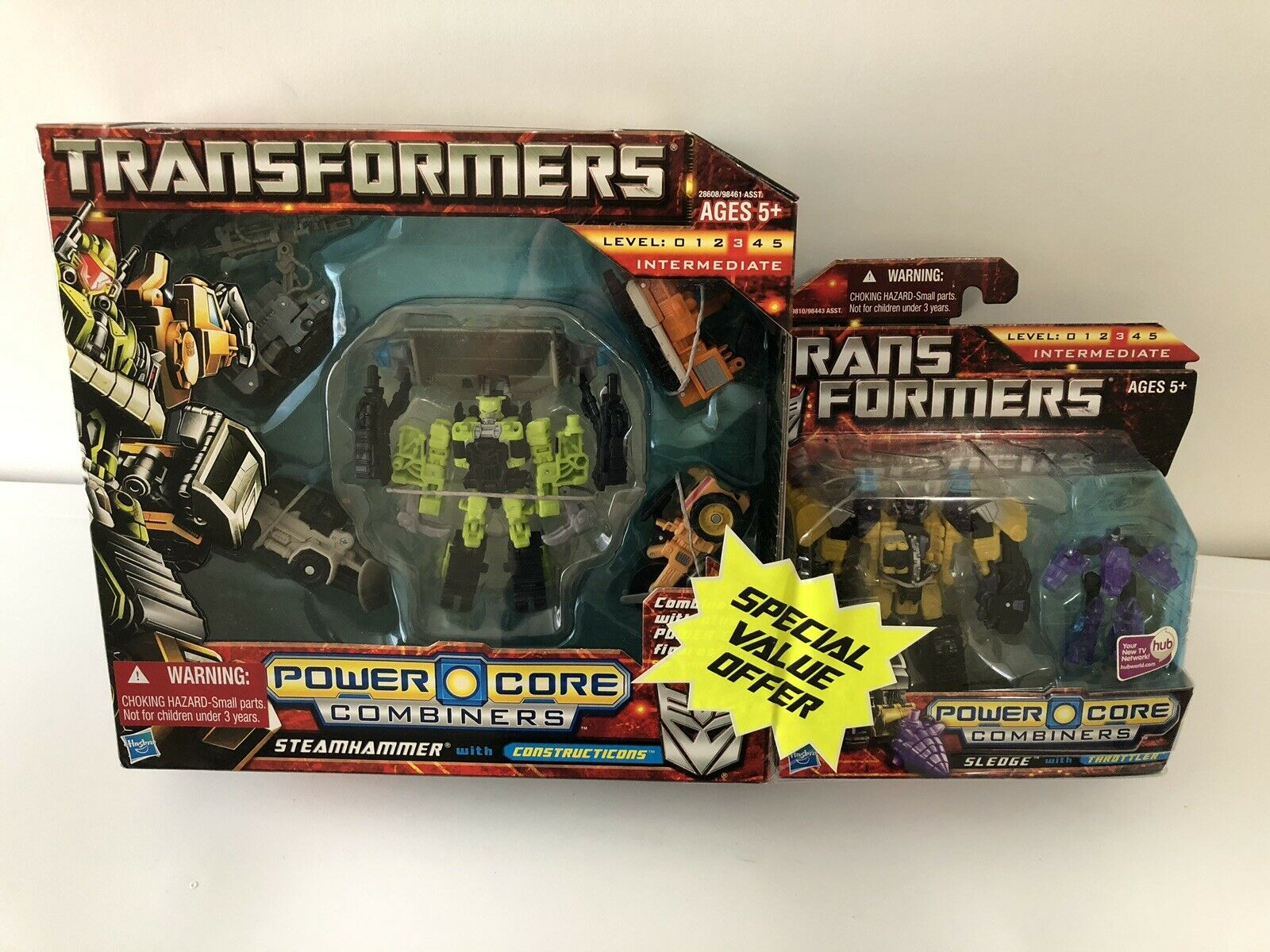 Transformers Power Core coupleurs Steamhammer & Sledge Bonus Set Nouveau