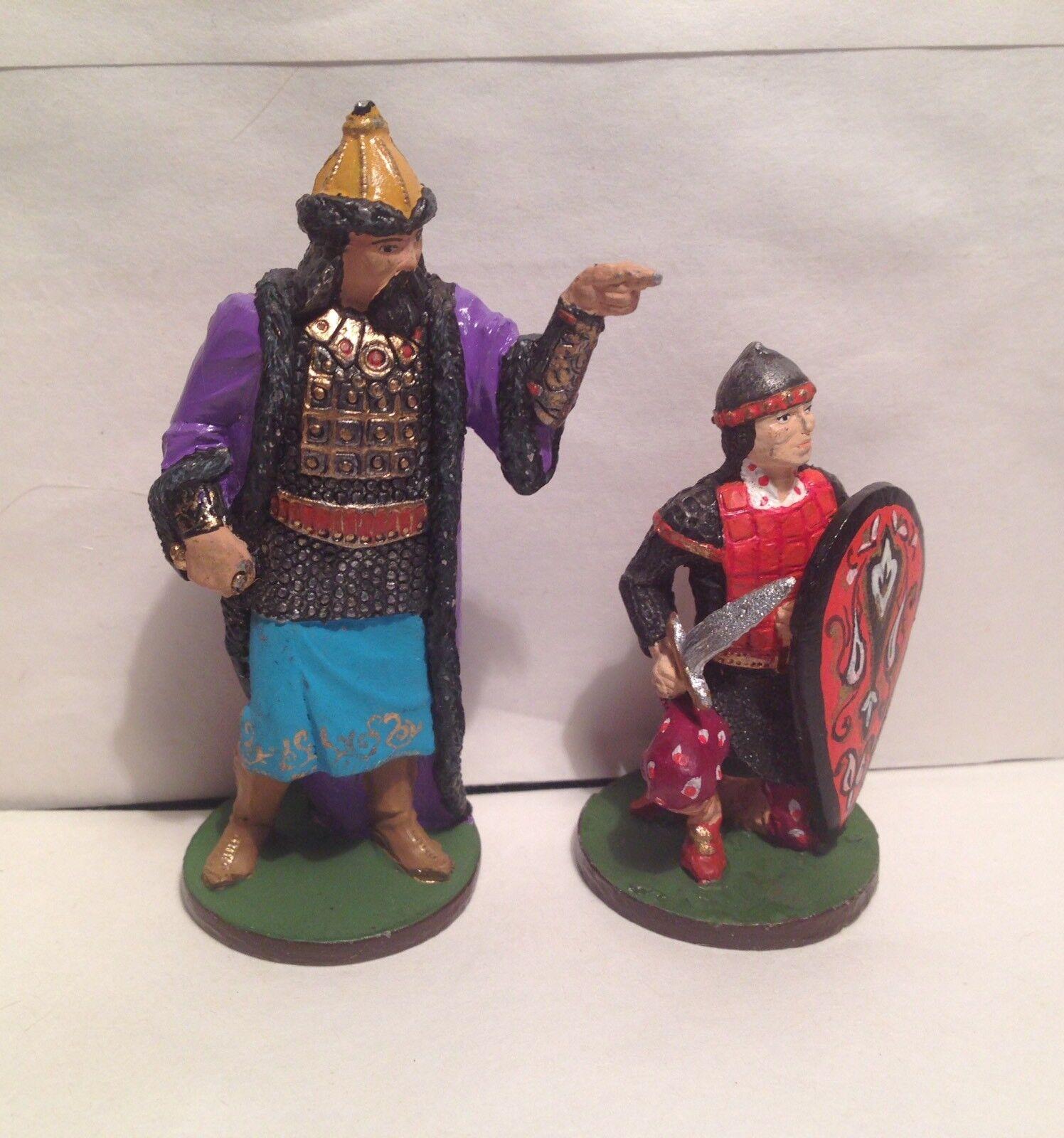 Niena Russian Metal Soldiers Genghis Khan Figurines Figures Handpainted rare