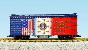 Details about USA Trains G Scale R16027 WE STAND 4 THE NATIONAL ANTHEM  PATRIOTIC CAR - RED/