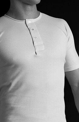 Fogey Unlimited Superwhite  Henley 3 button Undershirt  SHORT SLEEVE