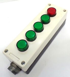 LOVATO-CONTROL-STATION-8L2PP5A8-W-RED-1-amp-GREEN-4-INDICATOR-LIGHTS