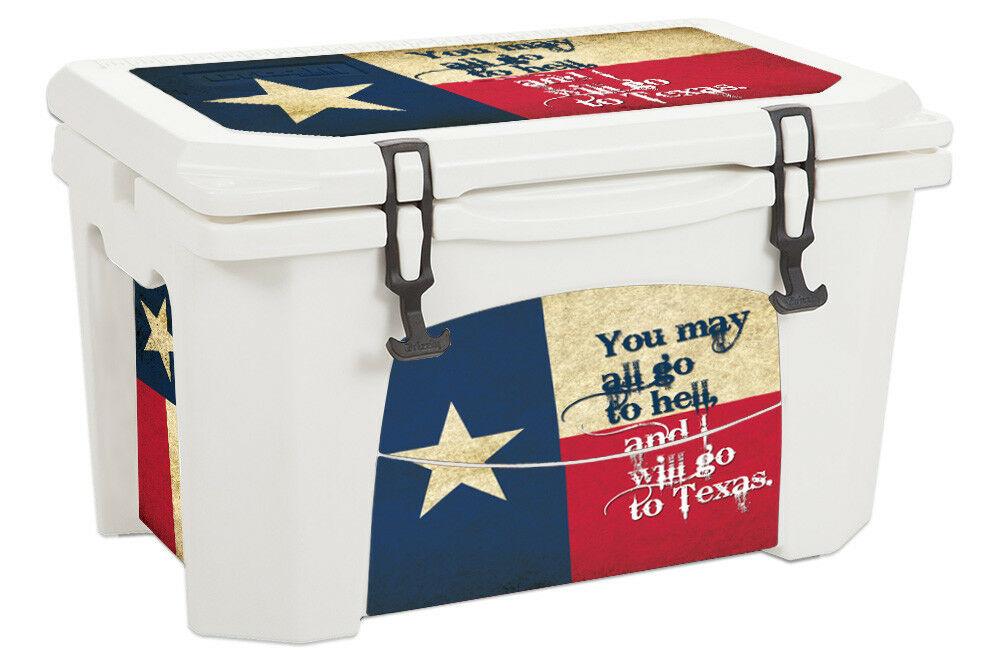 USATuff USATuff USATuff Custom Cooler Wrap Decal fits Grizzly 75qt L+I Texas Go To 1011e5