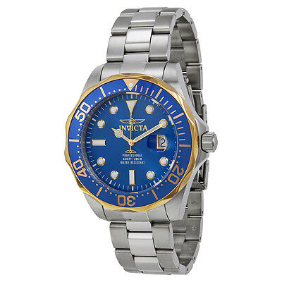 Invicta Pro Diver Blue Dial Stainless Steel Mens Watch 18732