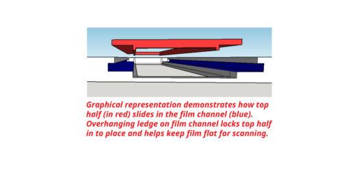 parallel scan option APS film holder//adapter made for Epson v700//750