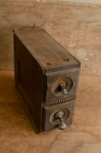 Antique-Sewing-Machine-Cabinet-Wood-Drawers
