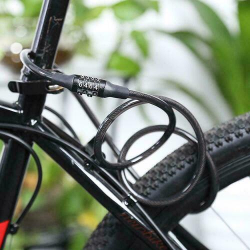 Cycling Security 4-Digit Combination Password Bike Cable Bicycle Lock Chain G7L3