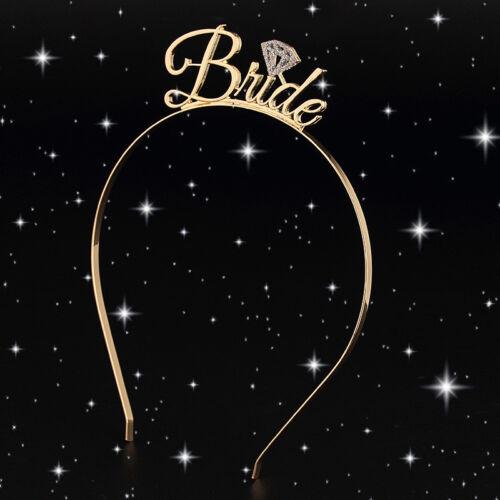 Fashion Team Bride Bridesmaid Tiara Crown Headband Girls Night Party Decor Gift