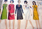 LOVELY VTG 1960s APPLIQUE DRESS VOGUE SPECIAL DESIGN Sewing Pattern 14/34