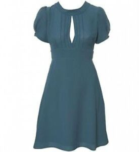 Vintage Topshop Teal 40s 40 12 Crepe Mini Tea Keyhole Uk Us8 Dress ZO4UdxqOw