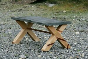 Bucolicproducts Reclaimed Slate Coffee Table Beach Legs Inlaid Pallet Wood 5060411742369 Ebay