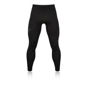 OMM-Flash-Uomo-Nero-Compressione-Collant-Lunghi-Da-Corsa-Leggings-Sport