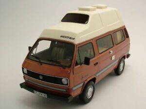 VW-T3-Westfalia-Joker-Camping-Techo-Alto-Marron-Coche-a-escala-1-18