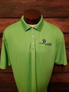 Nike-Dri-Fit-Mens-XL-Extra-Large-Lime-Green-Short-Sleeve-Golf-Polo-Shirt
