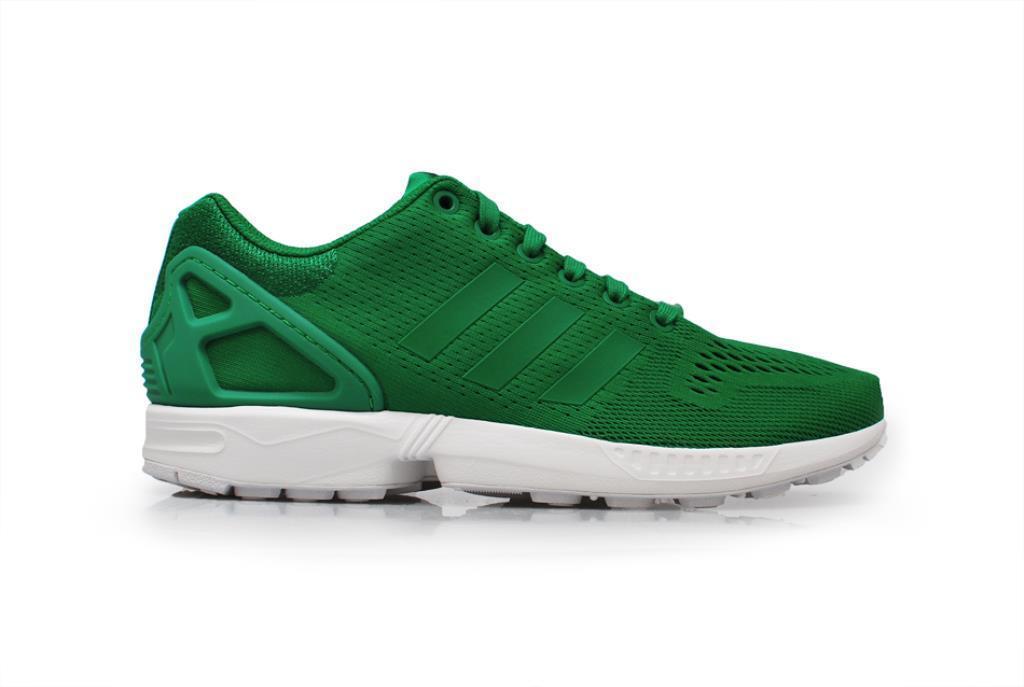 Herren Adidas Zx Flux - S81652 - Grün Weiße Sportschuhe