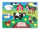 Melissa & Doug Farm Animals Peg Jigsaw Puzzle 7pce