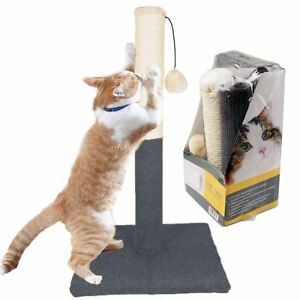 Large-Cat-Pet-Scratch-Post-Scratching-Tree-Scratcher-Sisal-Rope-Ball-Chewing-Toy