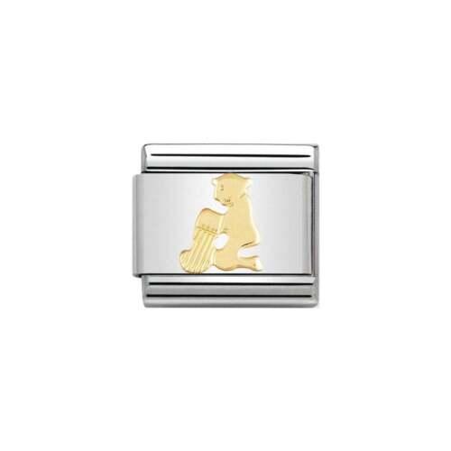BRAND NEW GENUINE NOMINATION CLASSIC 18ct GOLD AQUARIUS ZODIAC ITALIAN CHARM