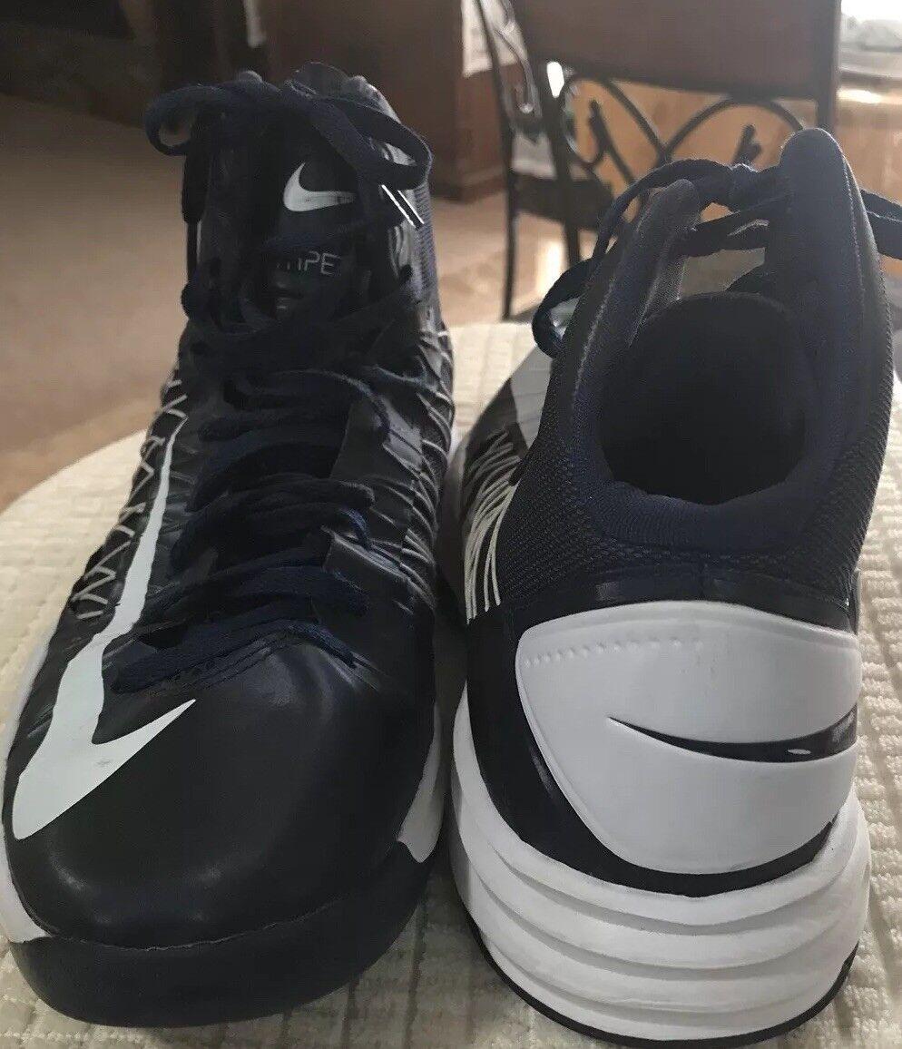 Men's Nike HyperDunk dark blue white high top basketball shoes 12 Price reduction Casual wild