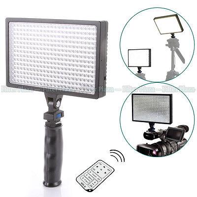 PRO Handheld LED-540A Video Light DV 3200~6000K For Canon Nikon Camera+IR Remote