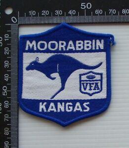 RARE VINTAGE VFA MOORABBIN KANGAROOS EMBROIDERED WOVEN CLOTH VFL SEW-ON BADGE
