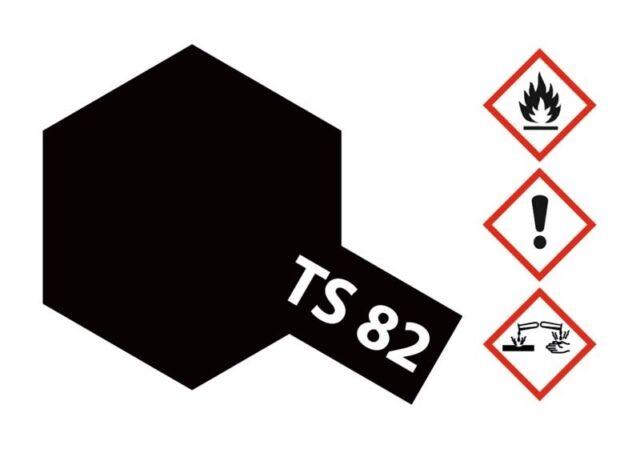 Tamiya acrílico aerosol ts-82 goma-negro mate 100ml - 85082