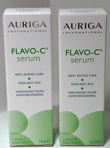 auriga flavo c serum vitamin c anti aging falten gesicht hautpflege duo 15ml ebay. Black Bedroom Furniture Sets. Home Design Ideas