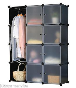 steckregal schrank regal regalsystem kleiderschrank garderobe schwarz 4260161658281 ebay. Black Bedroom Furniture Sets. Home Design Ideas