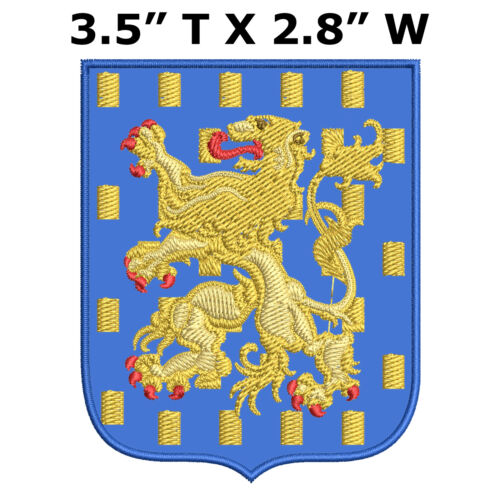 """County of Nassau Medieval Coat of Arms 3.5/"""" Embroidered Iron or Sew-on Patch"""