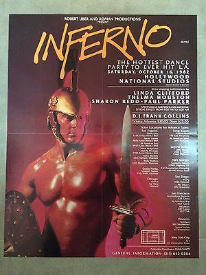 Inferno Gay Party Poster 1982 Hollywood New York SF LA Pride