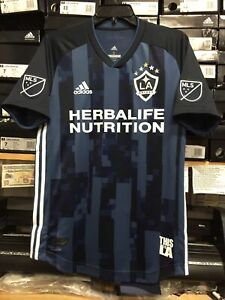 promo code 668c8 d0aa8 Details about Adidas La Galaxy Away Jersey Authentic 2019 Navy Blue White  Size Small Only