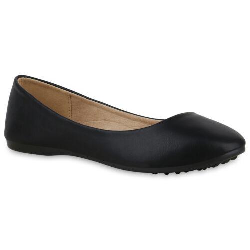 Damen Klassische Ballerinas Basic Slipper Slip On Flats 825914 Schuhe