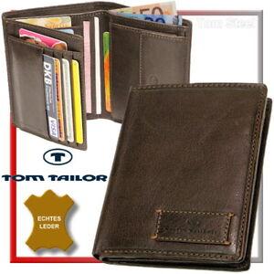 TOM-TAILOR-Herren-Geldboerse-Brieftasche-Geldbeutel-Portemonnaie-Geldtasche-Braun