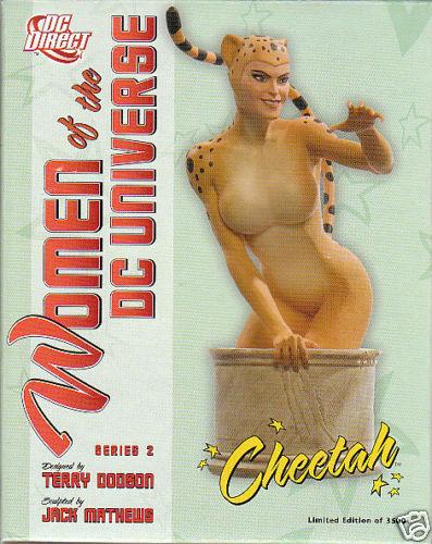 SCULPTURE  CHEETAH  (buste) women of DCTerry Dodson