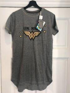 BNWT girl Power Primark Wonder Woman Nightie Pyjamas T Shirt Night ... 4e26c6419