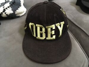 b16049d058d43 Image is loading Obey-Corduroy-Cap-Used