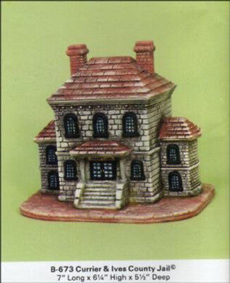 """Reindeer Stable Barn Village House 7/"""" x 8/"""" x 6/"""" Ceramic Bisque Ready To Paint"""