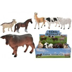 Action Figures Plastic Farm Animals Toy Model Figures Cow Bull Goat Sheep Horse Donkey zoo