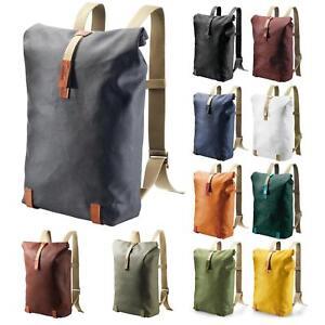 Sac à dos Courier vintage a4 bürorucksack Vélo Sac à dos Roll Up Uni Rouge