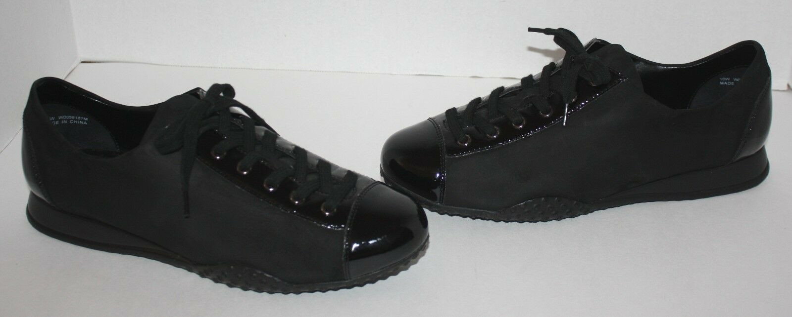 Womens Walking Cradles Black Leather Comfort Shoes Size 10 W