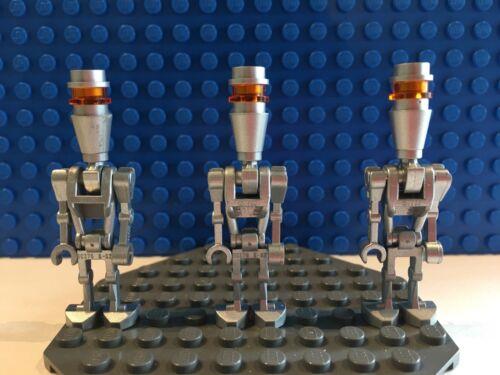 LEGO Star Wars Minifigure Lot of Chrome Silver Assassin Droids x3