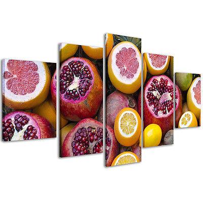 Quadri Moderni 200 x 90 cm Stampe su Tela Canvas XXL Quadro Moderno Frutta #080