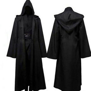 Adult-Mens-Hooded-Robe-Cloak-Cape-Party-Halloween-Vampire-Cosplay-Costume-S-XXL